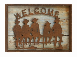 Antique Wall Decor - Western Theme Decor With Antique Emblem Brand Woodland