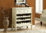 """Antique White Veneer 37""""H Traditional Wine Chest"""