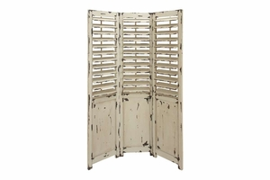 Antique Wood Screen, Three Panels 72 Inch Height, 48 Inch Brand Woodland