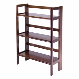Winsome Wood Antique Wooden Foldable Three Tier Storage Shelf