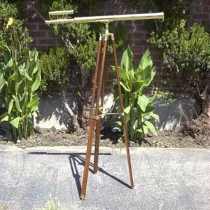 """Antiqued Brass Griffith Astro Telescope With Solid Wood Tripod 60"""" Brand IOTC"""
