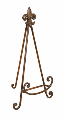 Antiqued Brown Metal Easel For Cook Books in Brown Finish Brand Woodland