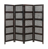 Antiqued Circle By Circle Treated Wood Room Divider 4 Panel Brand Woodland