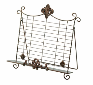 Antiqued Gold Metal Easel For Cook Book Stand Brand Woodland