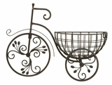 Antiqued Metal Classic Style Bicycle Floral Wall Planter Brand Woodland