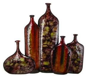 Antiqued Metal Vase Wall Decor Crafted with Unique Design Brand Woodland