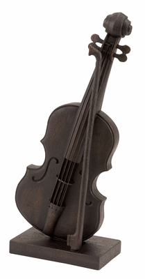 Antiqued Violin Polystone Antiqued Violin Art Sculpture Brand Woodland