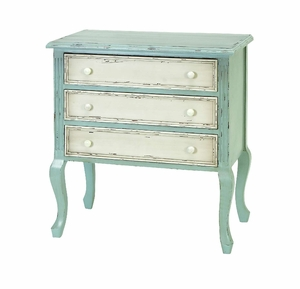 Antiqued Wood Chest with Curve Legs Crafted with Modern Design Brand Woodland