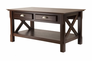 Appealing Must Have Xola Coffee Table with 2 Drawers by Winsome Woods