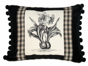 Appealing Orchid Petit Point Pillow by 123 Creations