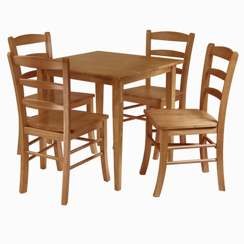 Tables Winsome Wood Appealing Square Wooden Groveland Dining Table