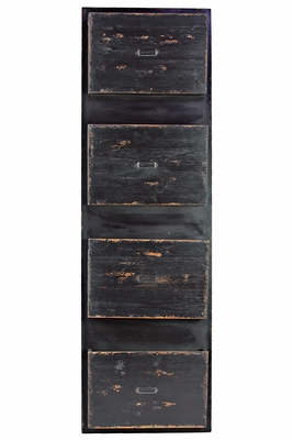 Appealing Wooden Black Colored Letter Organizer