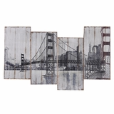 Appreciatively Smart Golden Gate Bridge Painting by Yosemite Home Decor