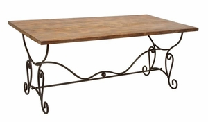 Arizona Wood And Metal Outdoor Patio Garden Table Brand Woodland