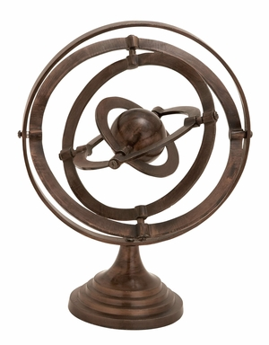 Armillary Beautifully Sculptured Over A Four Stepped Round Base Brand Woodland