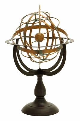 Armillary Sphere - Celestial Decorative Copper And Bronze Sphere Brand Woodland