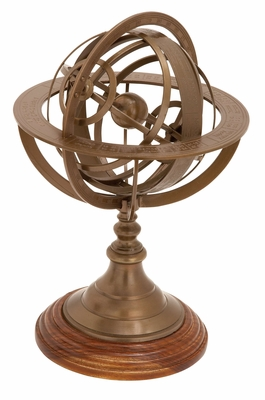 Armillary With Multiple Ring Plates As Unique Table Decor Brand Woodland