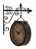 Artistic and Antique Themed Double Side Clock by Woodland Import