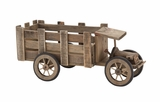 Artistic Contemporary Styled Wood Tractor Planter by Woodland Import