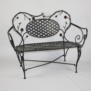 Artistic Modish Stylized Bird and Flower Bench