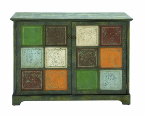 Artistic Multi Colored Storage Cabinet With Salvaged Antique Wood Brand Woodland