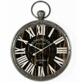 Artistic Pendant Iron Wall Clock with glass by Yosemite Home Decor