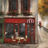 Artistic Styled Caf? Des Amis Romantic Painting by Yosemite Home Decor