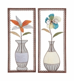 Artistic Styled Metal Wall Decor 2 Assorted by Woodland Import