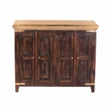 Artistically Designed Mangowood Storage Cabinet by Yosemite Home Decor