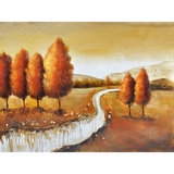Artistically Painted Autumn in New York II Painting by Yosemite Home Decor