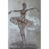 Artistically Painted Ballerina II Classy Painting by Yosemite Home Decor