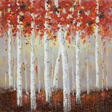 Artistically painted Birch Bliss I Adorable Painting by Yosemite Home Decor