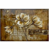 Artistically Painted Bloom of a Plant II Painting by Yosemite Home Decor