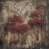 Artistically Painted Blooms and Berries I Painting by Yosemite Home Decor