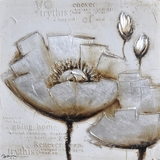 Artistically Painted Frosted Petals I Classy Painting by Yosemite Home Decor