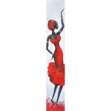 Artistically Painted Lady Red III Painting by Yosemite Home Decor