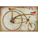 Artistically Styled Bicycle Fun I Classy Painting by Yosemite Home Decor