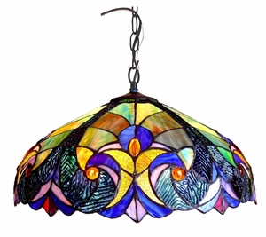 Arty and Bright Victorian Pendant Lamp by Chloe Lighting