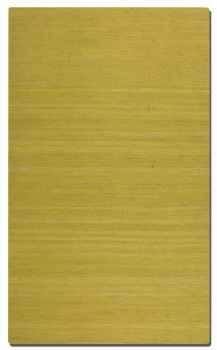 Aruba Olivine 5' Woven Jute Rug in Green with Natural Striations Brand Uttermost