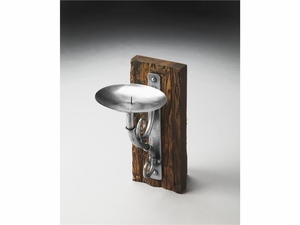 """Aspen Rustic Candle Sconce 6.5""""W by Butler Specialty"""