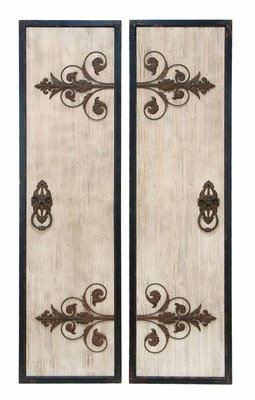 Assorted Wooden and Metal Wall Plaque with Classic Style Brand Woodland