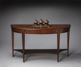 "Astor Nutmeg Demilune Console Table 54""W by Butler Specialty"