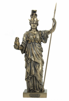 Athena Greek Goddess of Wisdom and War in Cold Cast Bronze Brand Unicorn Studio
