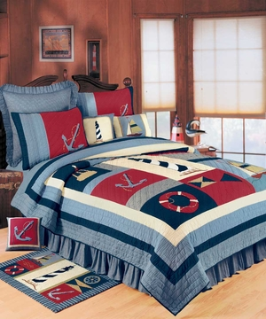 Atlantic Isle Quilt - 2 Shams Only Brand C&F