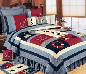 Atlantic Isle Quilt Handmade Throw / Lap Quilts Brand C&F