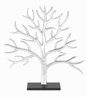 Attractive Aluminium Decor Tree with Exquisite Silver Finish Brand Woodland