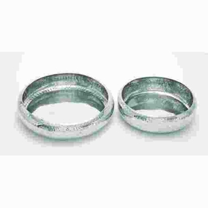 Attractive Aluminum Bowl with Minimal Detailing (Set of 2) Brand Woodland