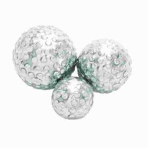 Attractive Aluminum Decor Ball in Silver Finish (Set of 3) Brand Woodland