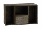 Attractive and Rusty Styled Square Wall Shelf by Woodland Import