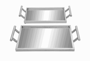Attractive and Sturdy Metal Glass Tray with Suction Cups Brand Woodland